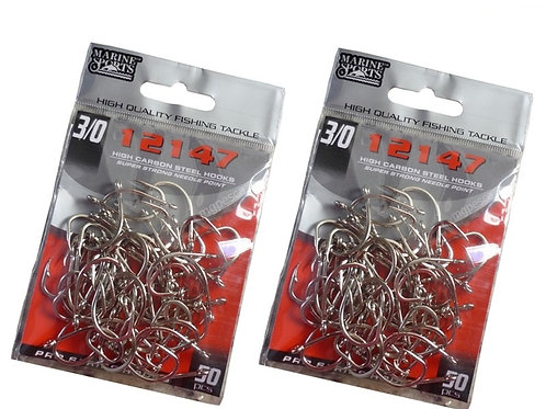 ANZOL MARINE SPORTS 12147 NICKEL 3/0 com 50pcs