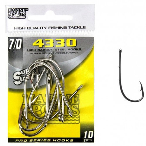 ANZOL MARINE SPORTS 4330 SUPER STRONG 7/0 com 10pcs