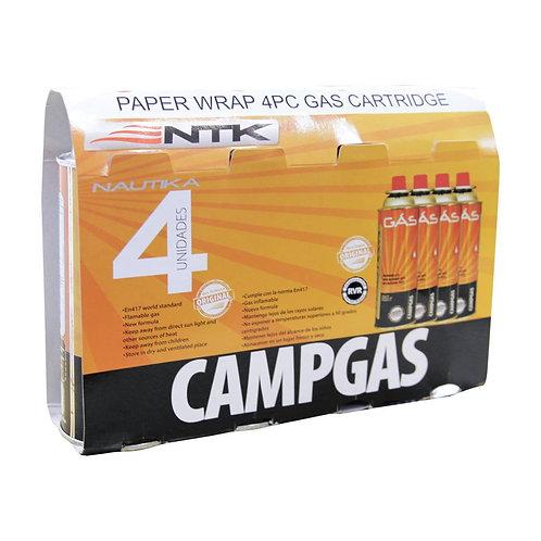 CARTUCHO DE GÁS NAUTIKA CAMPGAS (4 PEÇAS)