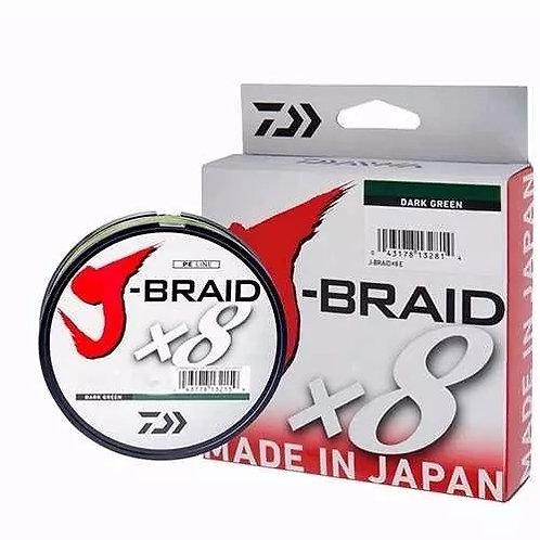 LINHA MULTIFILAMENTO DAIWA J-BRAID X8 Verde 0,19mm 15lb 150m