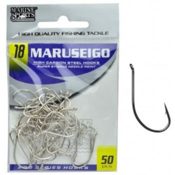 ANZOL MARINE SPORTS MARUSEIGO NICKEL 18 com 50pcs