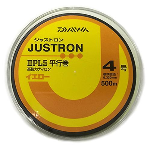 LINHA NYLON DAIWA JUSTRON 6 (MADE IN JAPAN) 0,405mm 25lbs - 500m