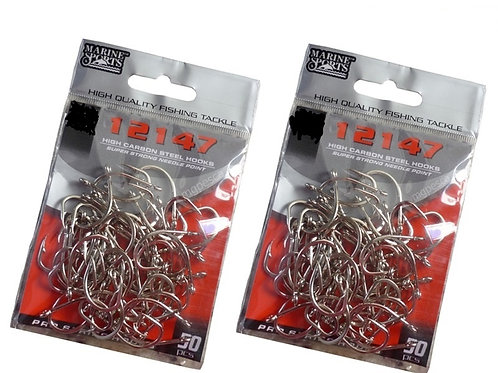 ANZOL MARINE SPORTS 12147 NICKEL 08 com 50pcs