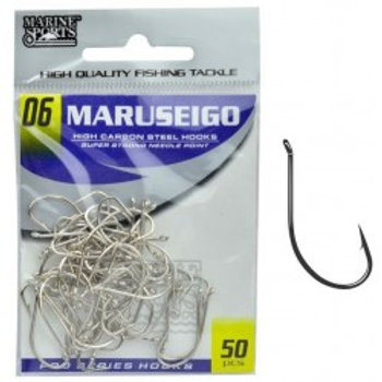 ANZOL MARINE SPORTS MARUSEIGO NICKEL 06 com 50pcs