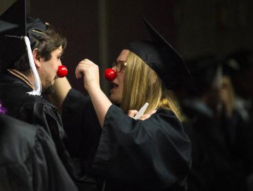 Clowning at Graduation
