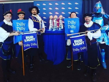 Bud Light Town Crier. DIlly DIlly!