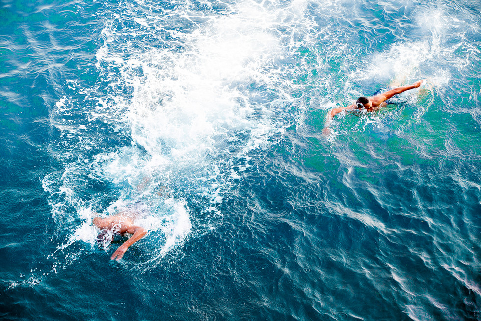 Dip into the blue sea