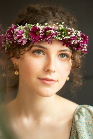 A young woman with a flower crown