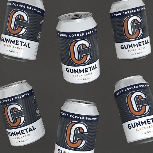 Gunmetal 4,8% Black Lager - case of 24x 330ML