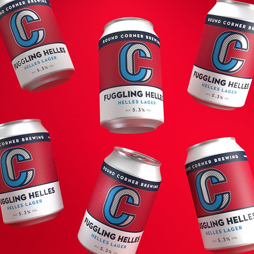 Case of 24x 330ML cans of Fuggling Helles 5.3%Lager