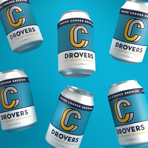 Case of 24x 330ML Drovers 4.3%Hazy Vermont Session IPA