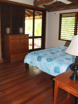 Master bedroom to private deck
