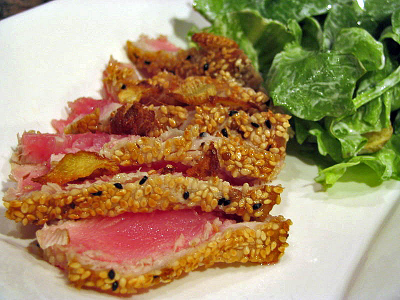 pan seared tuna steaks