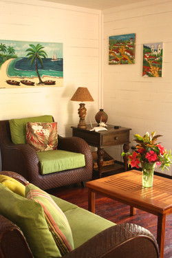 Living room facing ocean