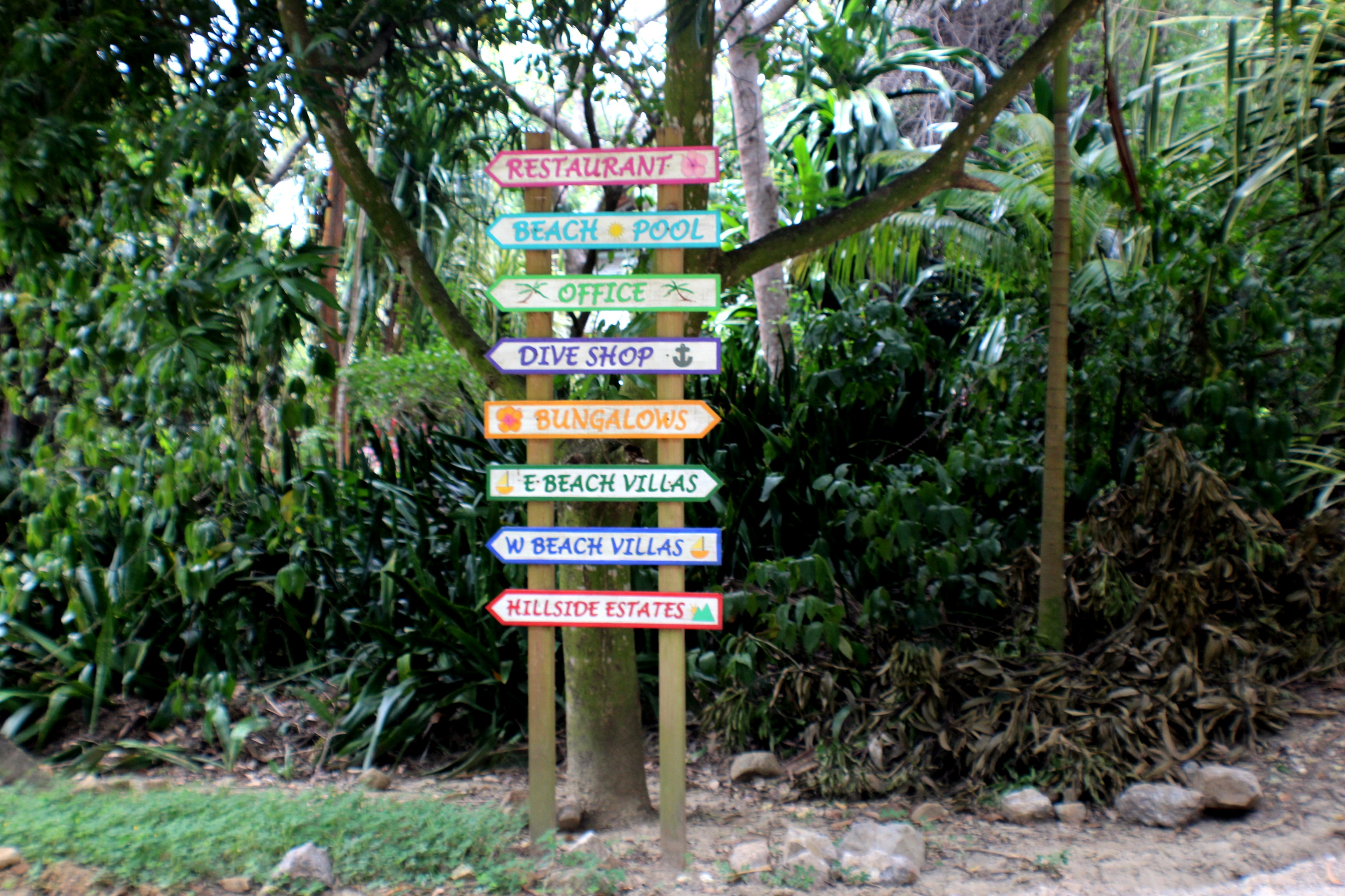 One of many sign boards