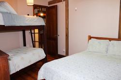 Third bdrm with dbl & bunk beds