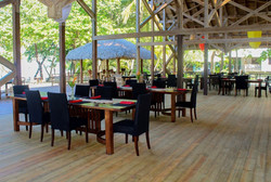 Covered, open air dining