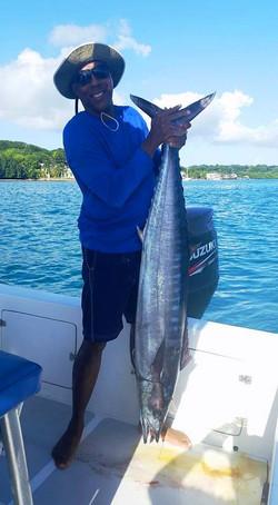 Sport fishing, he's 6'2