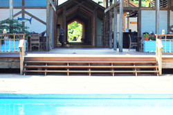 Pool to activity bldg