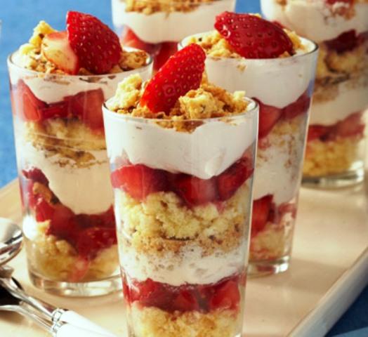 strawberry trifles