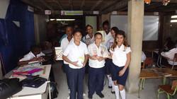 School supplies for burned school