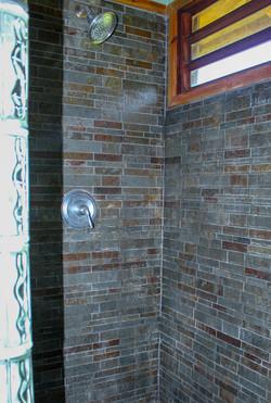 Modern slate shower