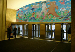 Lobby mural