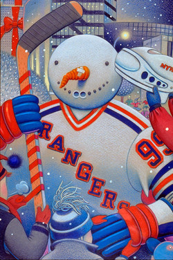 New York Rangers Holiday Card