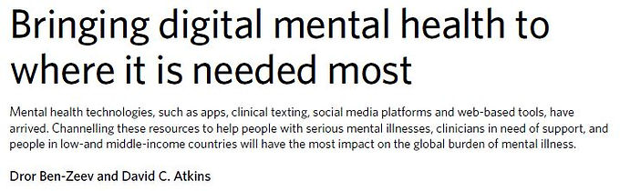 Bringing Digital Mental Health to Where it is Needed Most