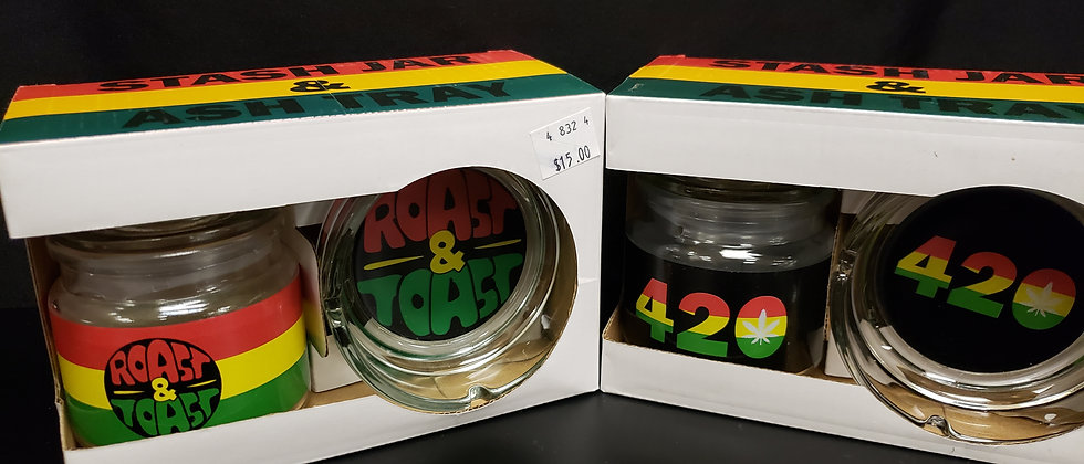 Stash Jar & Ashtray Set