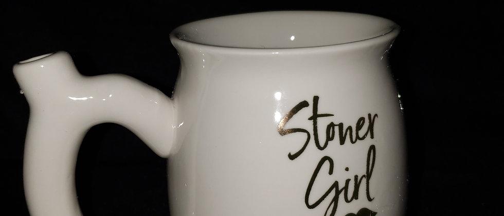 White Stoner Girl Mug
