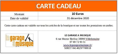 Carte cadeau 10Euros
