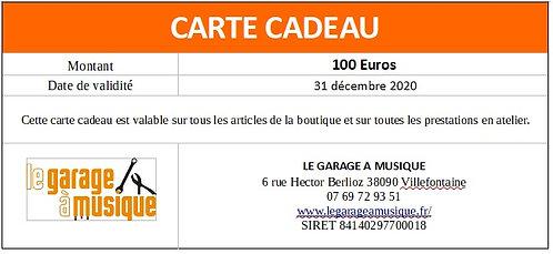 Carte cadeau 100Euros