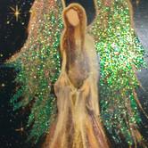 """3.5""""x2.5"""" miniature angel print"""