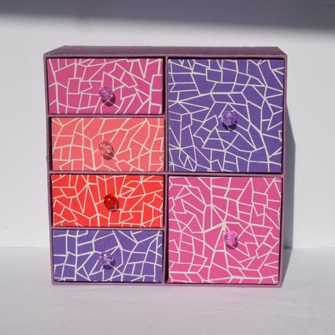 Pink Fabric Multi-Drawer Box.JPG