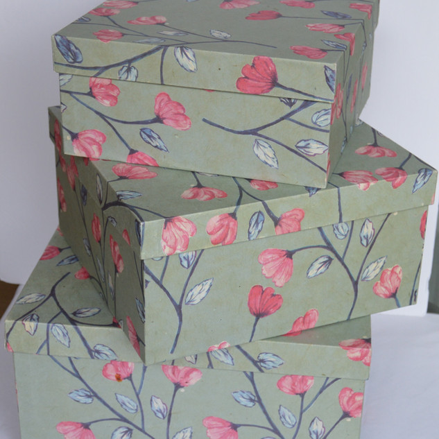 Boxes Red and Pink Flower in Different Sizes