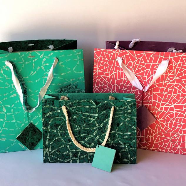 Bags-Fabric Paper-set
