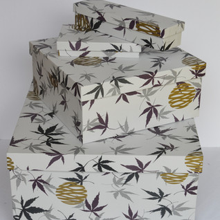 Boxes Leaf with Golden Print