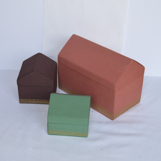 Jewelry Boxes House with Fabric Design.j
