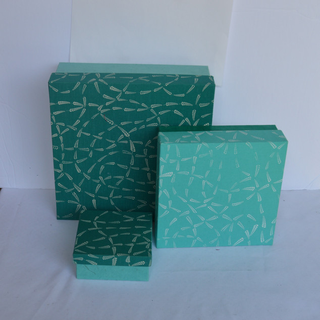 Boxes Blue Fabric