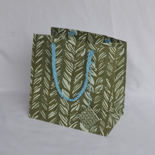 Bag Stitch Design Green Medium