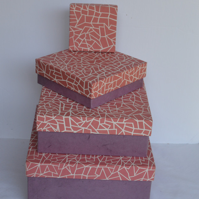 Boxes Pink Fabric