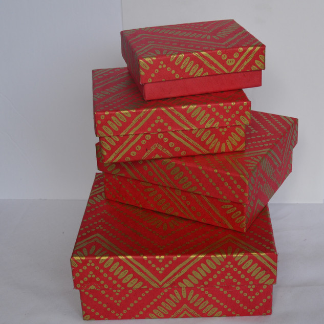 Boxes Zig Zag Red