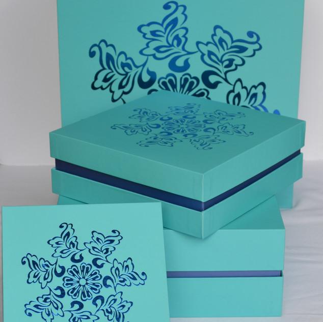 Box Blue Foil Design