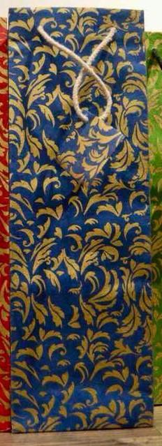 Gold Scattered Leaves-Blue