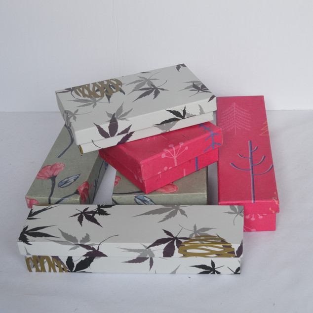 Jewelry Boxes Pink and Red Flower and Le