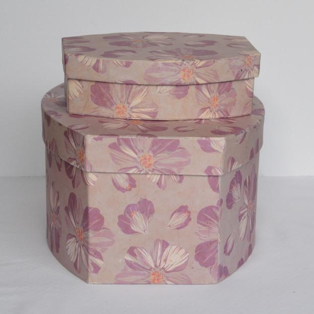 Box Pink Flower Ovel Box