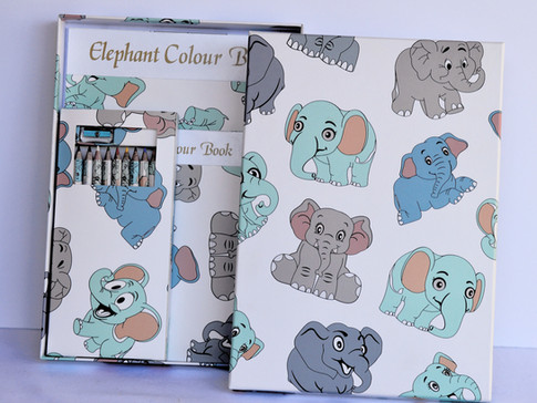 Color Book Elephants