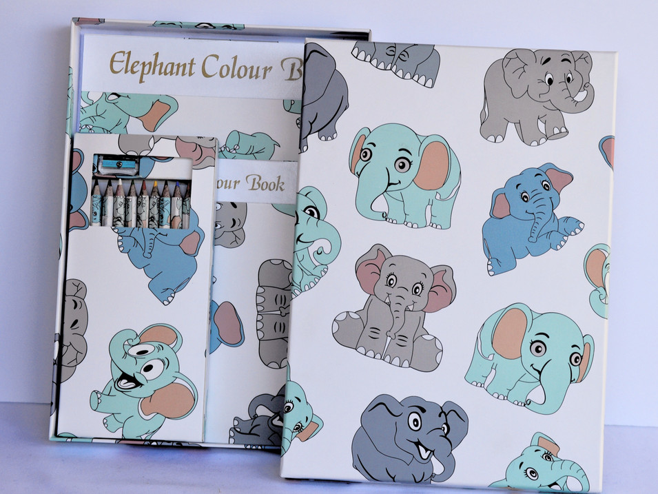 Color Book Elephants