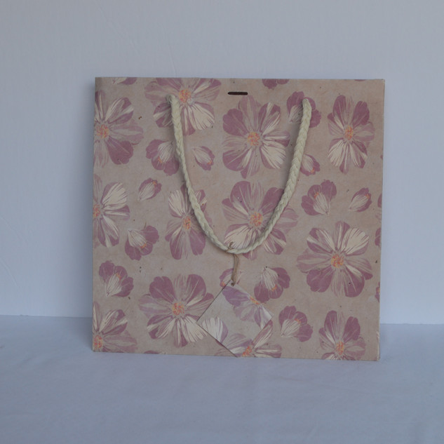 Bag Pink Flower Medium